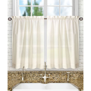 Stacey Ice Cream 56 x 45-Inch Tailored Tier Pair Curtains