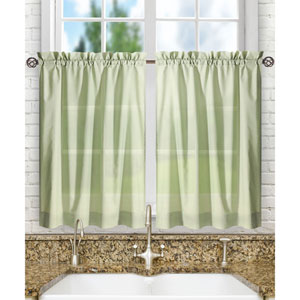 Stacey Sage 56 x 45-Inch Tailored Tier Pair Curtains