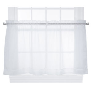 Jessica Sheer 54 x 30-Inch Tailored Tier Curtains