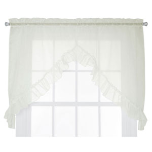 Jessica Sheer 60 X 35 Inch Ruffled Swag Curtains