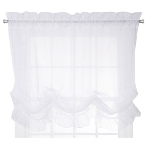 Jessica Sheer 60 x 63-Inch Ruffled Balloon Shade