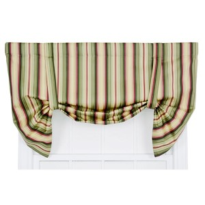 Mateo Basil 50 x 30-Inch Lined Tie-Up Valance