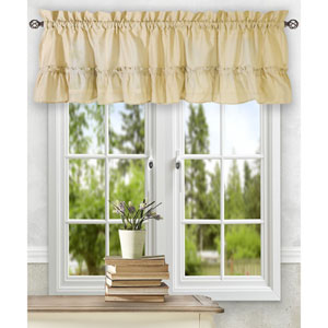 Stacey Almond 54 x 13-Inch Ruffled Filler Valance