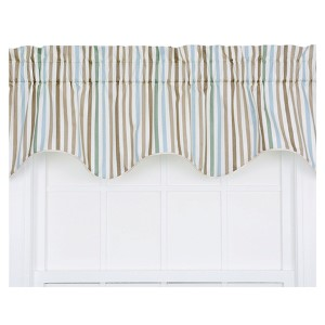 Line-Up Latte 50 x 15-Inch Lined Duchess Filler Valance