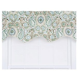 Paisley Latte 50 x 15-Inch Lined Duchess Filler Valance