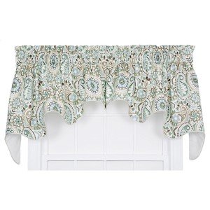 Paisley Latte 100 x 30-Inch Lined Duchess Valance