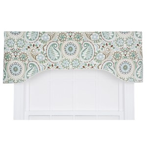 Paisley Latte 50 x 15-Inch Lined Arched Valance