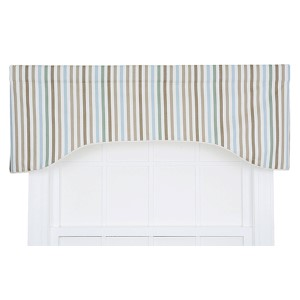 Line-Up Latte 50 x 17-Inch Lined Arched Valance