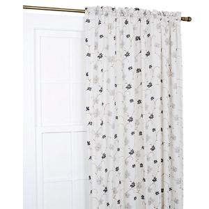 Zoe Black 48 x 63-Inch Curtain Single Panel
