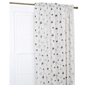 Zoe Black 48 x 84-Inch Curtain Single Panel