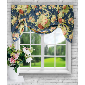 Sanctuary Rose 21 x 50-Inch Lined Tie-Up Valance