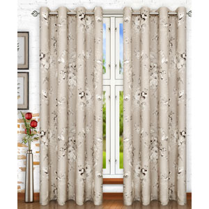 Chatsworth Grey 50 x 63 Inch Lined Grommet Panel