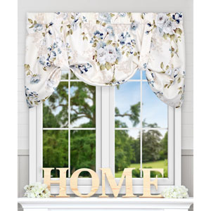 Chatsworth Blue 50 x 21 Inch Lined Tie-up Valance