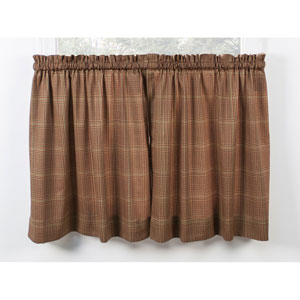 Morrison Rust 56 x 36-Inch Tailored Tier Curtains