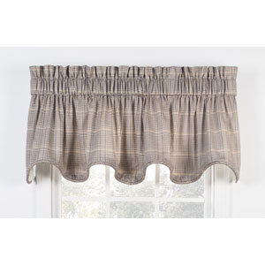 Morrison Patriot 70 x 17-Inch Lined Scallop Valance