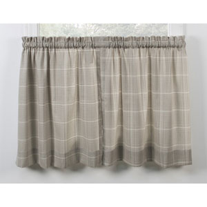 Morrison Natural 56 x 24-Inch Tailored Tier Curtains