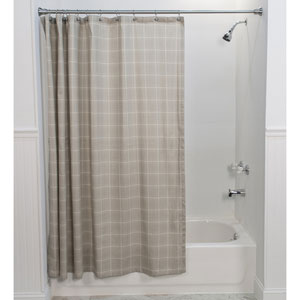 Morrison Natural 72 x 72-Inch Shower Curtain