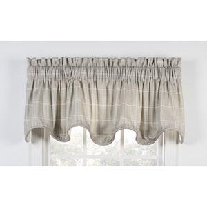 Morrison Natural 70 x 17-Inch Lined Scallop Valance