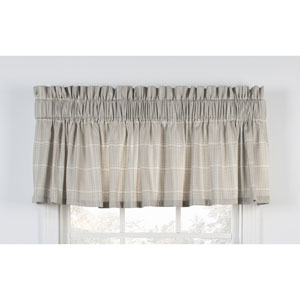 Morrison Natural 80 x 15-Inch Tailored Valance