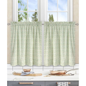 Davins Spa 56 x 24 Inch Tailored Tier Curtains