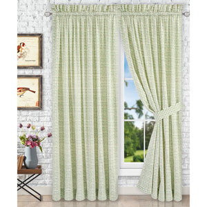 Davins Spa 90 x 84 Inch Tailored Pair Curtains with Ties