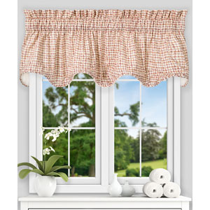 Davins Clay 70 x 17 Inch Lined Scallop Valance