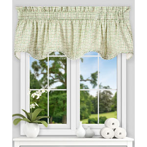 Davins Spa 70 x 17 Inch Lined Scallop Valance