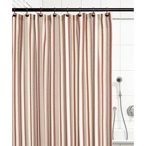 Mason Stripe Clay 72 x 72 Inch Shower Curtain