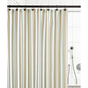 Mason Stripe Spa 72 x 72 Inch Shower Curtain