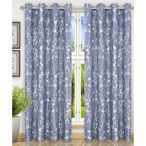 Meadow Cobalt 50 x 63 Inch Lined Grommet Top Panel