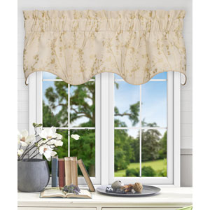 Meadow Linen 50 x 15 Inch Lined Scallop Valance