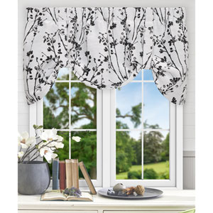 Meadow Chrome 50 x 22 Inch Lined Tie-up Valance