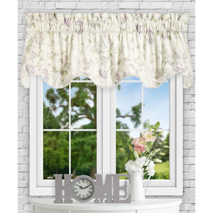Abigail Lilac 70 x 17 Inch Lined Scallop Valance