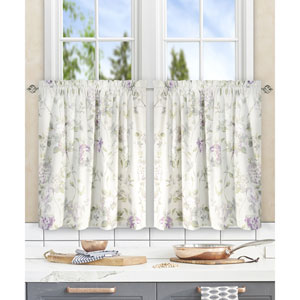 Abigail Lilac 56 x 36 Inch Tailored Tier