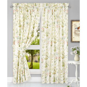 Abigail Multicolor 90 x 63 Inch Tailored Pair Curtains with Ties