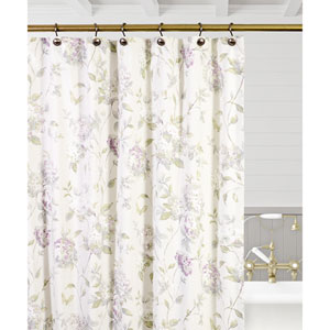 Abigail Lilac 72 x 72 Inch Shower Curtain