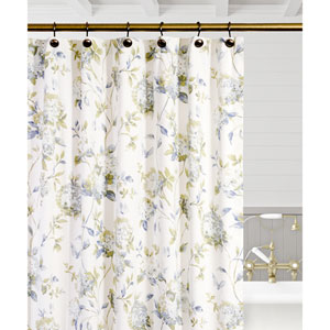 Abigail Porcelain 72 x 72 Inch Shower Curtain