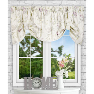 Abigail Lilac 60 x 22 Inch Tie-up Valance