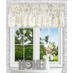Abigail Lilac 80 x 15 Inch Tailored Valance