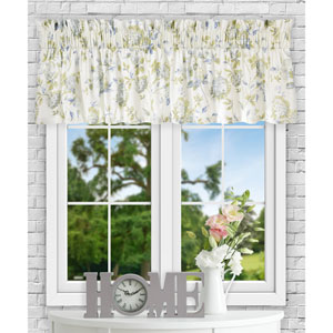 Abigail Porcelain 80 x 15 Inch Tailored Valance