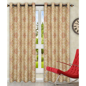 Miramar Honey Beige 84 x 84 Inch Grommet Top Panel Pair