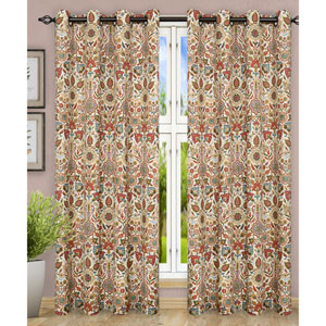 Adelle Multicolor 84 x 63 Inch Grommet Top Panel Pair