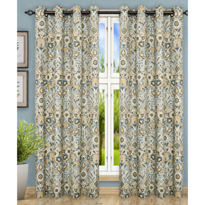 Adelle Nile 84 x 63 Inch Grommet Top Panel Pair