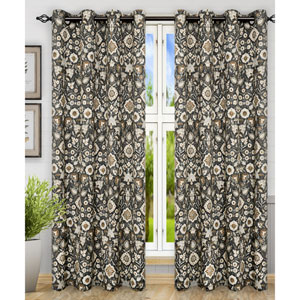 Adelle Black 84 x 63 Inch Grommet Top Panel Pair