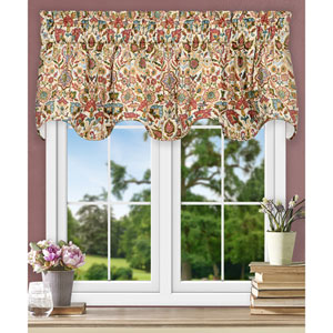 Adelle Multicolor 70 x 17 Inch Lined Scallop Valance