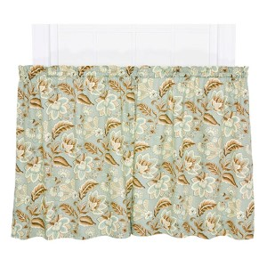 Valerie Spa 68 x 24-Inch Tailored Tier Curtain Pair