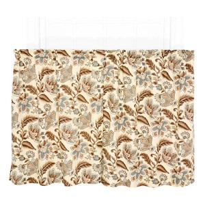 Valerie Linen 68 x 36-Inch Tailored Tier Curtain Pair