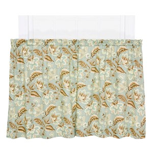 Valerie Spa 68 x 36-Inch Tailored Tier Curtain Pair