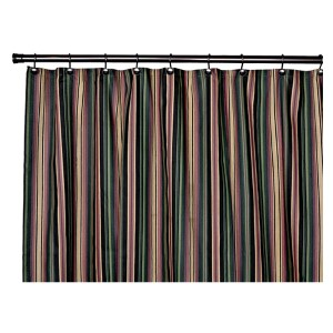 Montego Stripe Black 72 x 72-Inch Shower Curtain