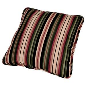 Montego Stripe Black 17-Inch Toss Pillow
